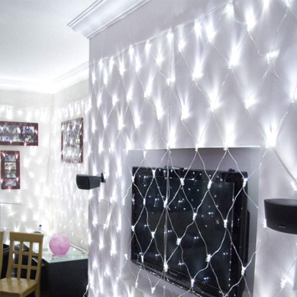 Wedding Christmas Garden Decoration Mesh Tree Light White Outdoor Waterproof Net Light 3M X 2M LED Fairy Light