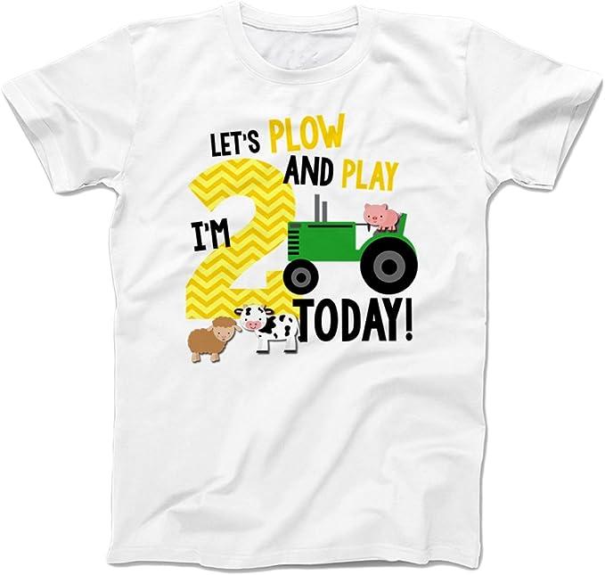 Amazon.com: Segundo cumpleaños – Camiseta Lets Arado Y Jugar ...