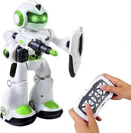 AILUKI Remote Control Robot Toy for Kids LED Lights Singing Dancing Walking Smart Robotics RC Programmable Intelligent Gesture Sensing Robot Kit Gift for Boys Girls