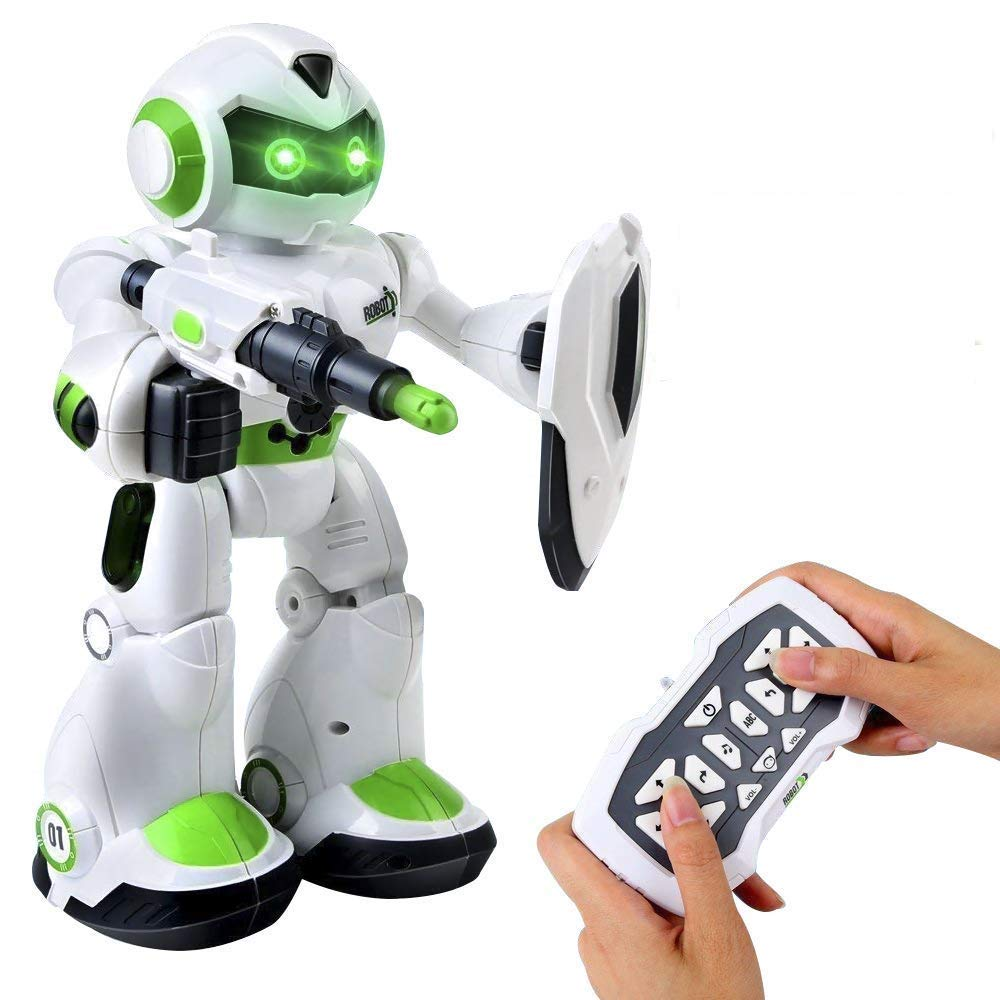 Remote Control Robot,Robot Toys,Smart Robotics for Kids with Gesture Sense, Interactive Walking Singing Dancing Speaking,with LED Light, Shoots Missiles, Talking, Walking, Singing, Educational Toys