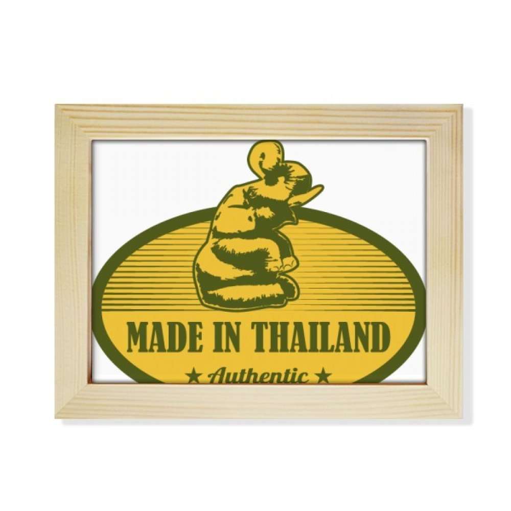 DIYthinker Thai Customs Culture Made in Thailand Desktop Wooden Photo Frame Picture Art Painting 6x8 inch by DIYthinker