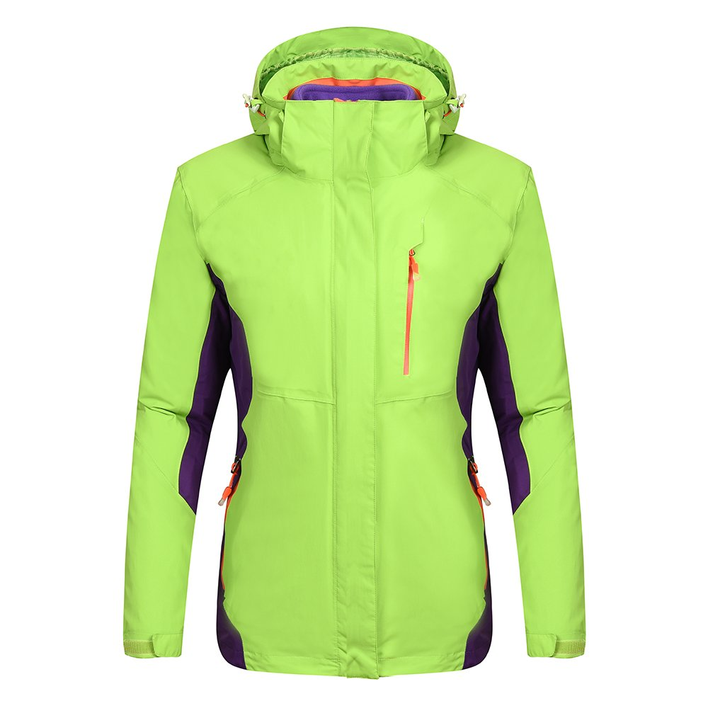 Heated Jacket Women,Waterproof Jacket with New Heating System,Auto-heated Winter Coat For Girls Woman Hooded Windbreaker (L, Green)