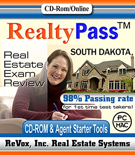2017 South Dakota AMP Realty Pass Real Estate Exam Prep Study Guide Questions and Answers Interactive Software