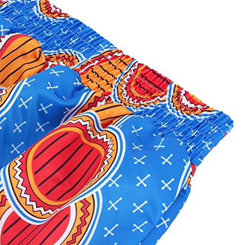 Multifit Women African Print A Line Pleated High Waist Expansion Skirt Maxi Skirt Casual Long Skirt(Blue&Red) by Multifit (Image #5)