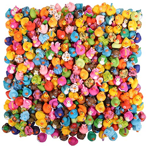 Narwhal Novelties Rubber Duck Bath Toy Assortment (300-Pack) Bulk Rubber Ducks (300)]()