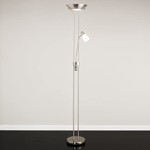 Mother and Child Floor Lamp - Satin Nickel - Complete With LED ...