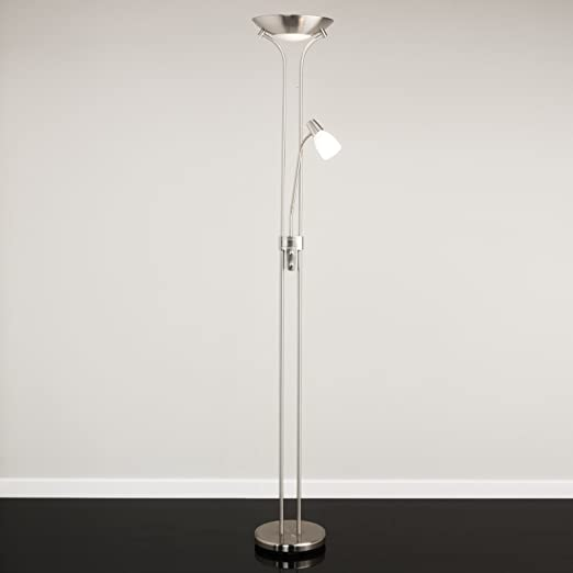 Mother and child floor lamp satin nickel complete with led bulbs mother and child floor lamp satin nickel complete with led bulbs mozeypictures Gallery