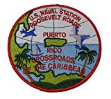 U.S. NAVAL STATION ROOSEVELT ROADS PUERTO RICO ROUND CRUISE JACKET PATCH - COLOR - Veteran Owned Business