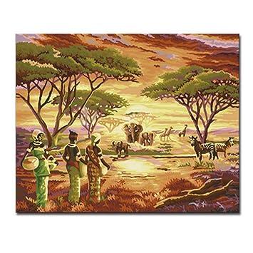 Jixiaosheng Pintura Al óleo Pintada A Mano De áfrica