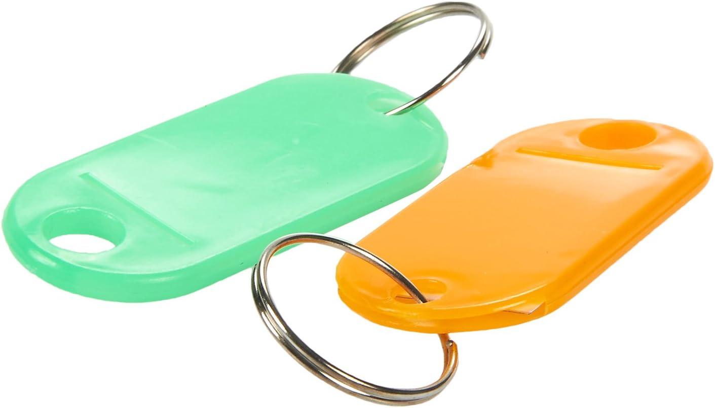Set di 50 targhette in plastica per portachiavi chiavi per bagagli piccole dimensioni memory stick animali domestici 2,5 x 1,8 cm multicolore