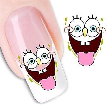 Amazon Highsun 2 Packs Spongebob Design Nail Art Nail