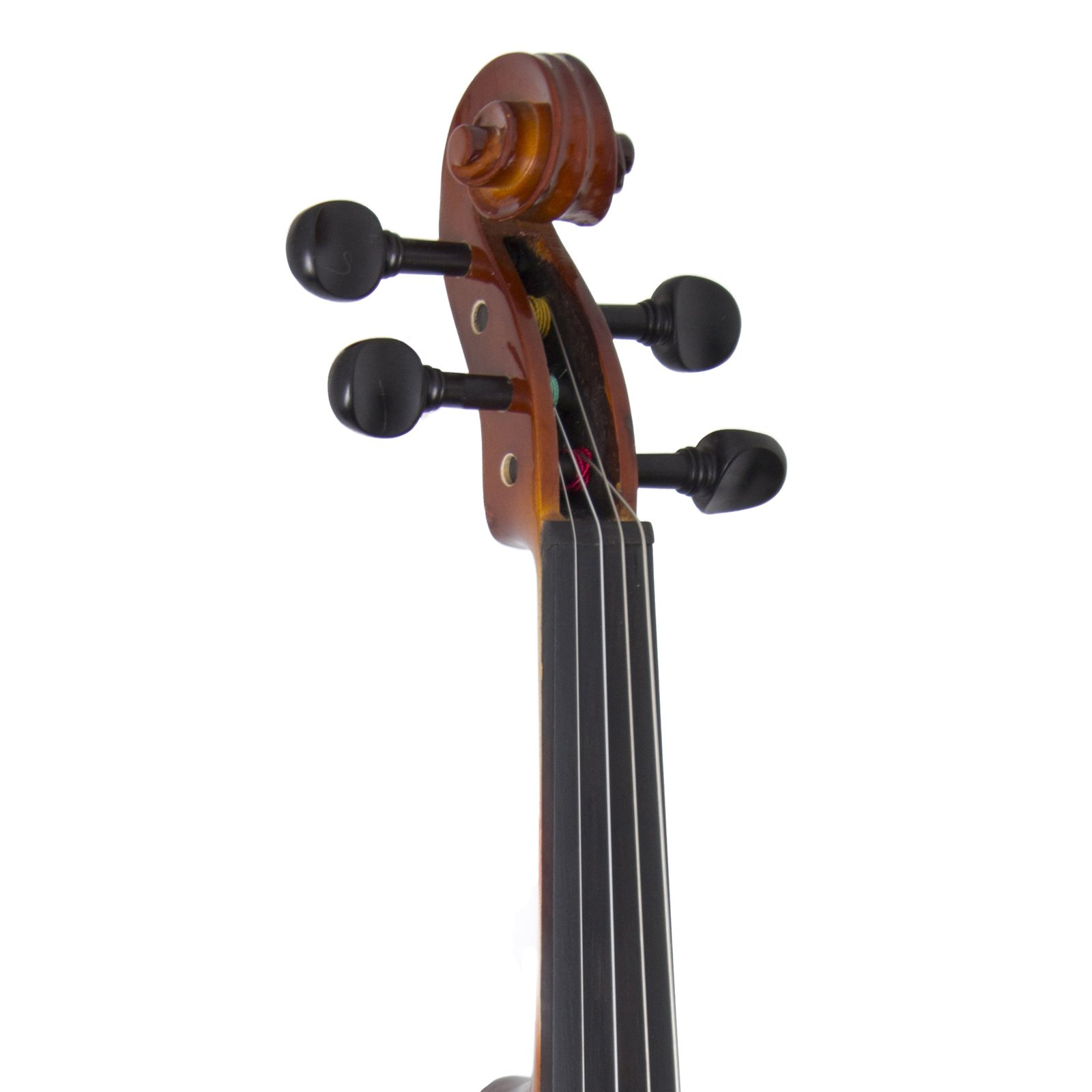 Cecilio CVN-320L Solidwood Ebony Fitted Left-Handed Violin with D'Addario Prelude Strings, Size 4/4 (Full Size) by Cecilio (Image #6)