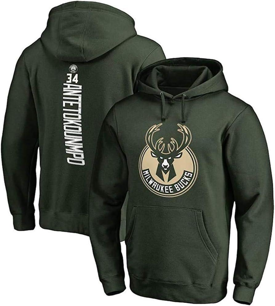 N//Z Sudadera con capucha deportiva holgada Milwaukee Bucks Giannis Antetokounmpo con capucha