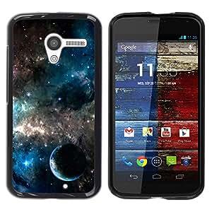 TopCaseStore / la caja del caucho duro de la cubierta de protección de la piel - Planets In The Galaxy - Motorola Moto X 1 1st GEN I XT1058 XT1053 XT1052 XT1056 XT1060 XT1055
