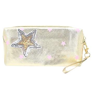 8efd6b1f6201 Amazon.com   OWMEOT💖 Cosmetic Bag Women Letters Printing Makeup Toiletry  Storage Travel Wash Handbag (H)   Beauty