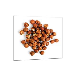 decorwelt - Panel de Vidrio antisalpicaduras para Cocina (65 x 60 cm, protección de Pared), Color marrón protección de Pared) Color marrón