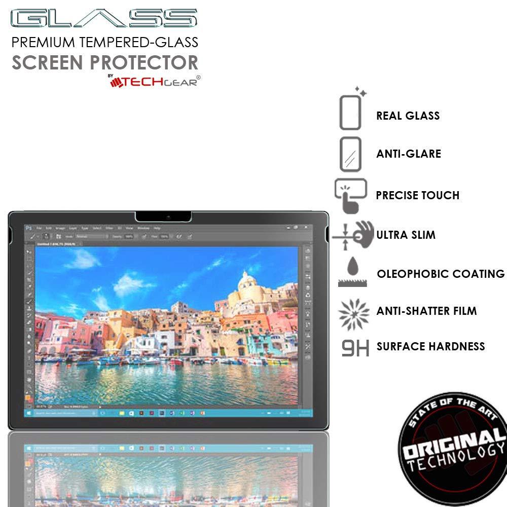 Mate Vidrio Edici/ón Protector de Pantalla de Vidrio Templado TECHGEAR Antirreflejo Protector de Pantalla Compatible con Microsoft Surface Pro 6