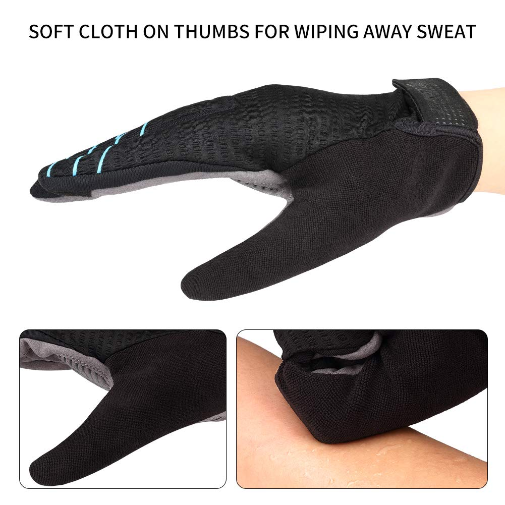 Anti Slip Bike Bicycle Riding gloves for Men Women RunSnail Cycling Gloves Padded Breathable Touch Screen