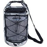 10L 15L 20L 35L Camouflage impermeabile Dry Bag Sacco avvolgibile con tracolla regolabile Tiene attrezzatura asciutta per kayak, spiaggia, rafting, canottaggio, escursionismo, campeggio, pesca e tutti gli sport acquatici
