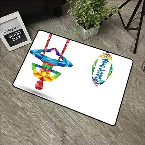 Amazon.com: Floor mat W24 x L35 INCH Yoga,Aerial Aero Anti ...