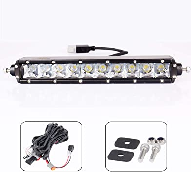 52inch 300W Curved LED Light Bar Combo Offroad for Jeep Ford ATV Slim+Wiring Kit