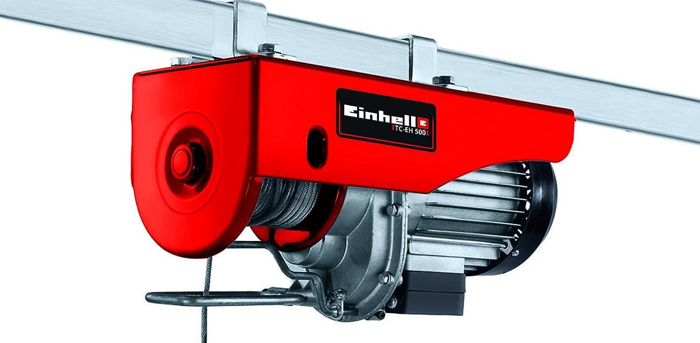 Einhell Seilhebezug TC-EH 500 (Tragkraft 500 kg, 230 V, 1000 W, Hubhö he 11,5 m, 12 m Drahtseil) 2255140