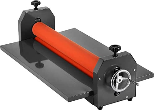 51 inch VEVOR Manual Vinyl Photo Film 51inch Cold Roll Laminator 25mm Hand Crank Pressure Sensitive Laminator Machine