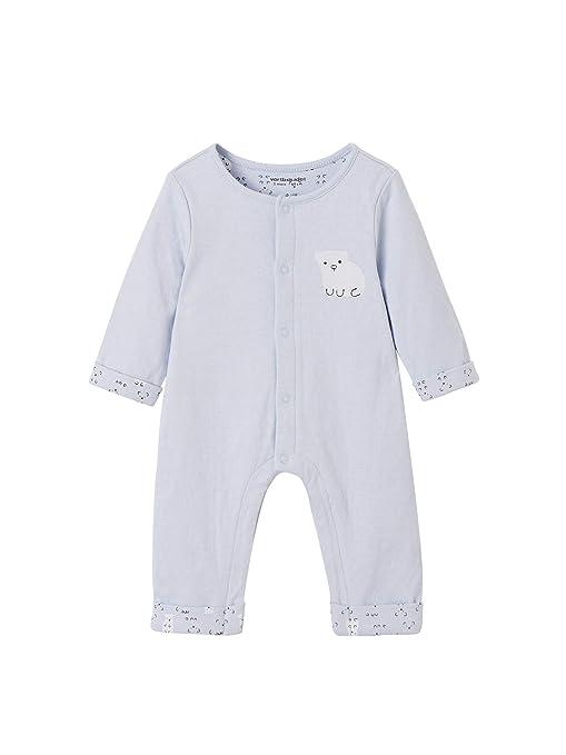 VERTBAUDET Mono para bebé recién nacido estilo pelele AZUL ...