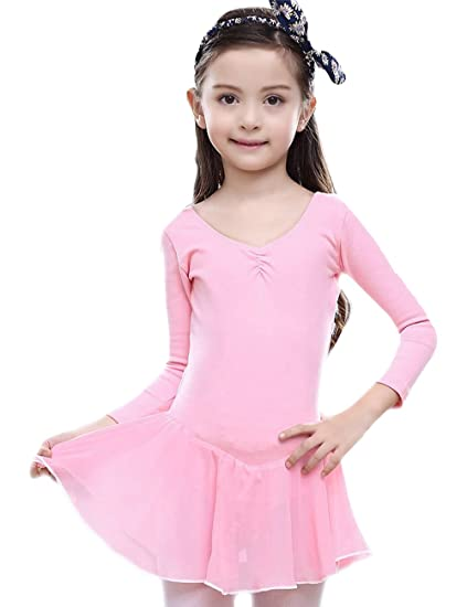 2a6a79b12d27 Amazon.com: CM-Light Kids Girls Ballet Dress Princess Leotard Costumes Dance  Long Sleeve Skirt 2-8 Years: Clothing