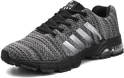 MUOU Zapatillas Deporte Hombre Zapatos de Entrenamiento para Hombre Malla Respirable Zapatillas Aptitud Ligero Deportes Zapatos para Correr(43 EU,D1002-Gris): Amazon.es: Zapatos y complementos