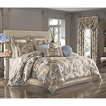 Amazon Com J Queen New York Jordyn Olivia 4 Piece King Comforter