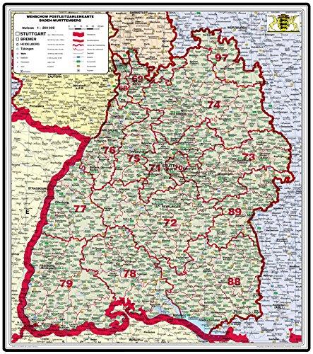 Karte Baden Württemberg Kostenlos.Amazon De Xxl Bundesländerkarte Baden Württemberg Mit