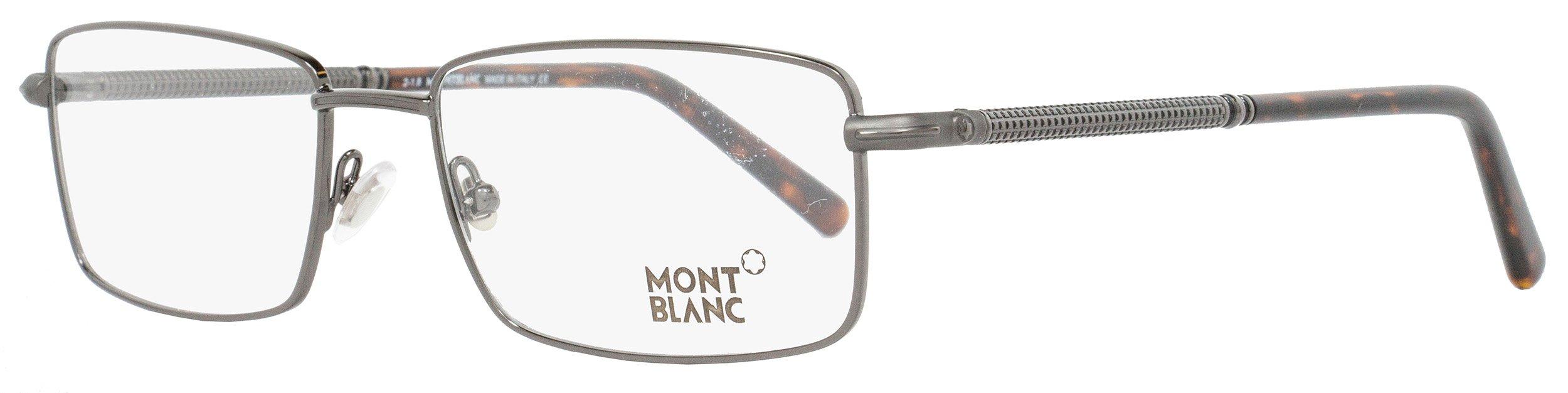 Montblanc Rectangular Eyeglasses MB575 008 Size: 55mm Gunmetal/Havana 575 by MONTBLANC