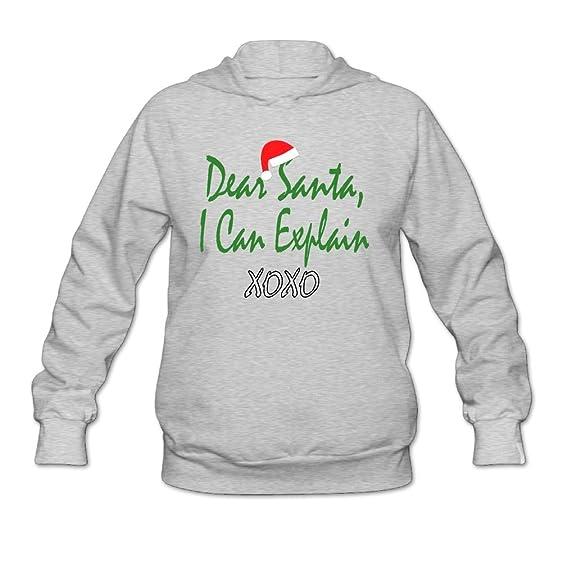 Prohats Dear Santa I Can Explain Womens Sweater Long Sleeve Hoodie