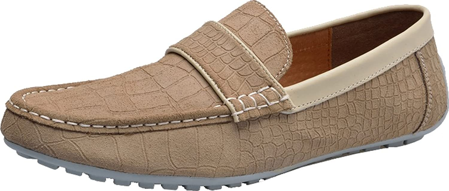 Abby Mens QZ-1395 Fashion Comfort Cozy Cosiness Message Driving Flat Leather Doug Shoes