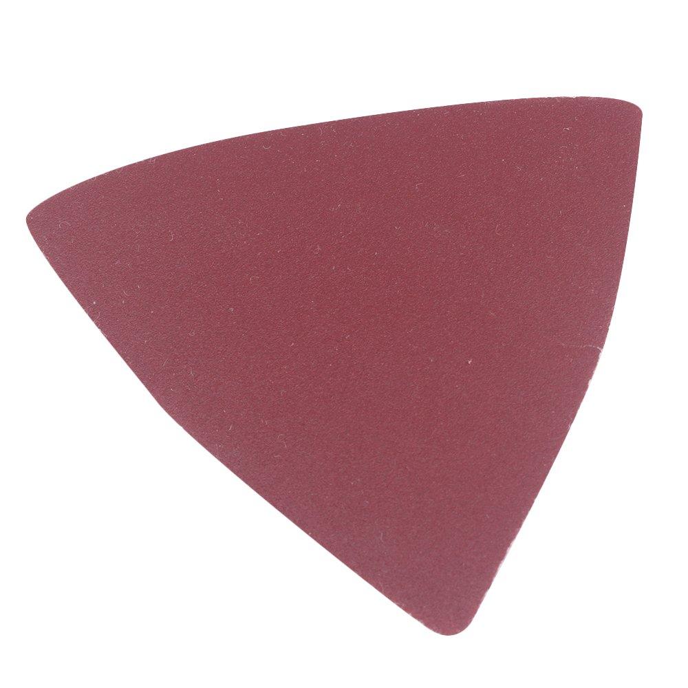 25pcs 82mm 60//80//120//180//240# Sand Paper Pads Sheets Triangle Sandpaper Sanding Abrasive Paper