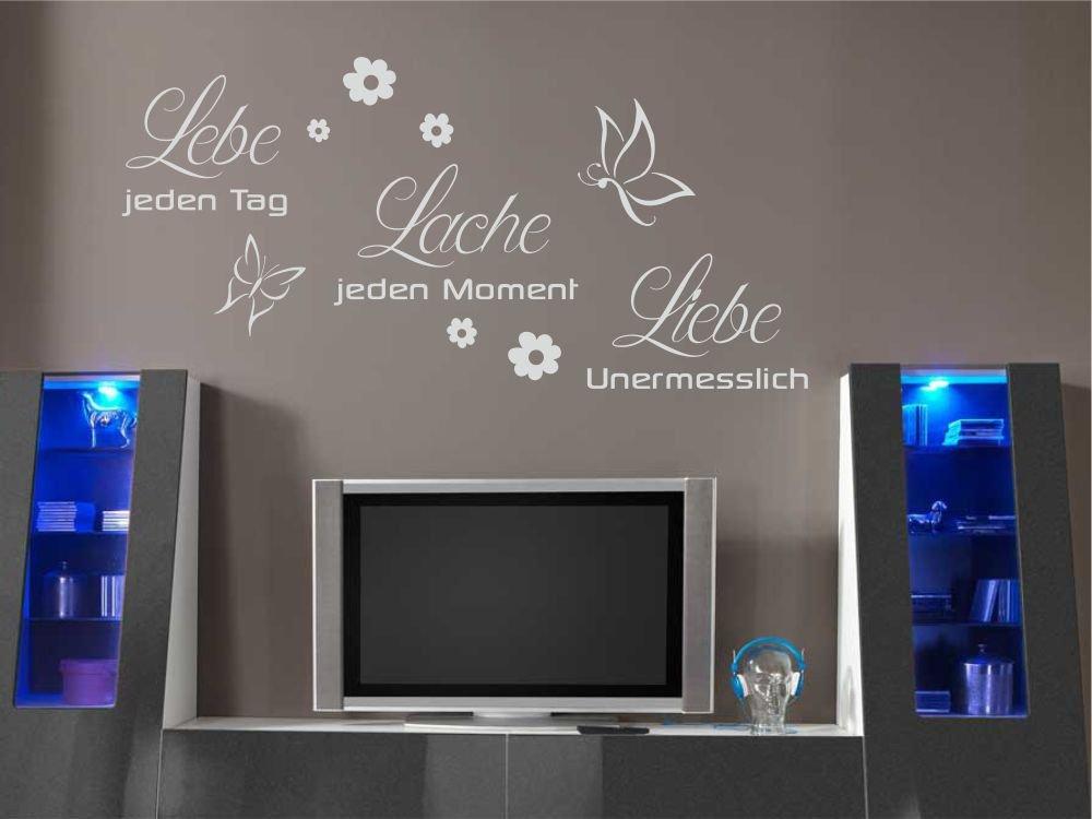 Wandtattoo Lebe Lache Liebe Wandsticker Wandaufkleber Wohnzimmer Wohnzimmer Wohnzimmer Sprüche X2128 braun 180cm x 87cm B01GSFRAT4 Wandtattoos & Wandbilder c049ef