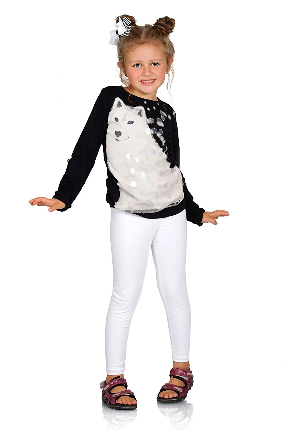 Futuro Fashion Full Length Cotton Girls Leggings Plain Pants for Kids White Leggings Age 13