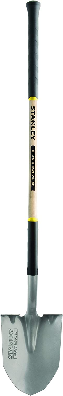 Yellow Stanley Garden BDS8062 FATMAX Ashwood Handle Round Point Shovel