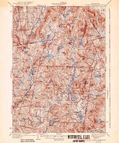 Rollstone Hill (YellowMaps Lovewell Mountain NH topo map, 1:62500 Scale, 15 X 15 Minute, Historical, 1942, 19.8 x 16.4 in - Tyvek)