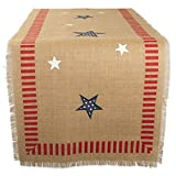 DII 14x74'' Jute/Burlap Table Runner, 4th of July - Perfect for Independence Day, July 4th Party, Summer BBQ and Outdoor Picnics