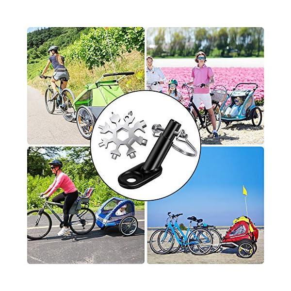 61ebDce7V2L Valeny Fahrradanhänger Kupplung, 2 Stück Fahrrad Anhängerkupplung mit Sicherungsstift für Kinderanhänger Fahrradanhänger…