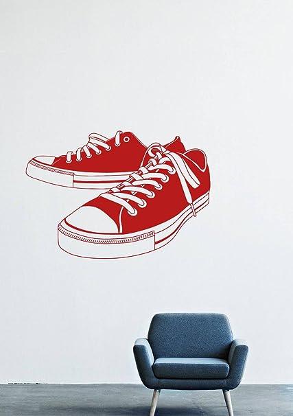 42900de243d1 Amazon.com  Wall Decals Decor Vinyl Shoe laces shoes Sneakers Style ...