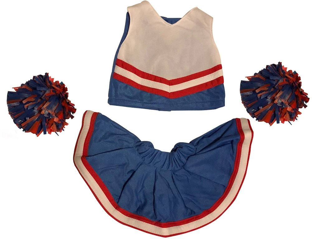 Royal Blue /& Gold Cheerleader Set fits American Girl Doll