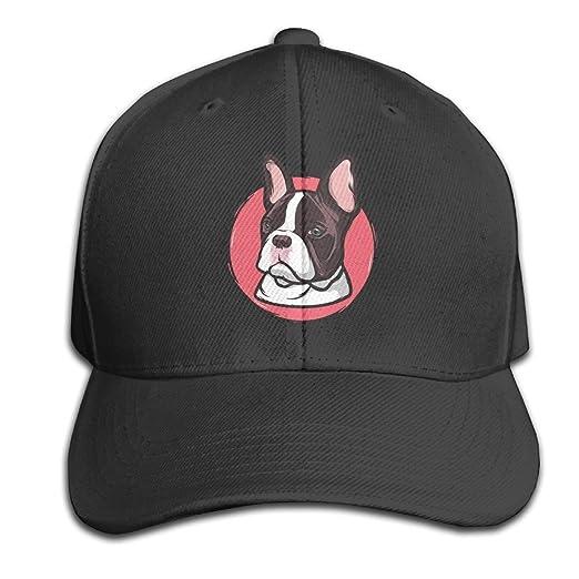 5521b25b84446 Amazon.com  Ervyn 100% Cotton Frenchie French Bulldog Sandwich Baseball Cap  Adjustable Curved Visor Hat  Clothing
