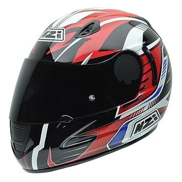 NZI 010264G727 Premium S Graphics SV Arrows Casco de Moto, Blanco, Negro, Rojo