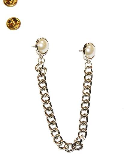 Marvelous Zaffron Hijab Pin Set With Chain Round Design