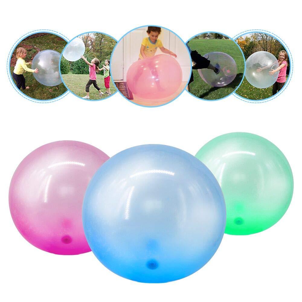 imoli Juego de 3 Bolas inflables de Burbujas - TPR Globos ...