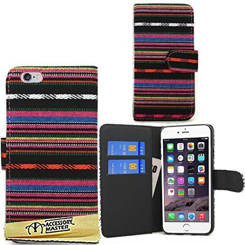 "Accessory Master Housse portefeuille Etui en pu cuir pour Apple iPhone 6 Case 4.7 "" Multi fleur"