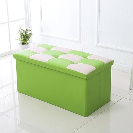 Double Seat Leather Folding Storage Ottoman Bench  30u0026quot;x15u0026quot;x15u0026quot;, Foldable Organizer